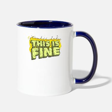 Fine This Is Fine - Contrast Coffee Mug