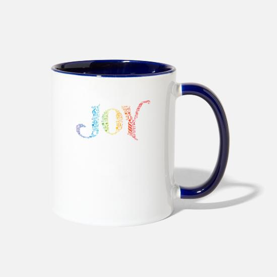 Love Mugs & Drinkware - Joy 03 - Two-Tone Mug white/cobalt blue