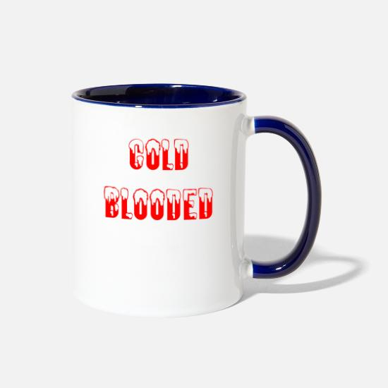 Casanova Mugs & Drinkware - Cold Blooded (red) - Two-Tone Mug white/cobalt blue