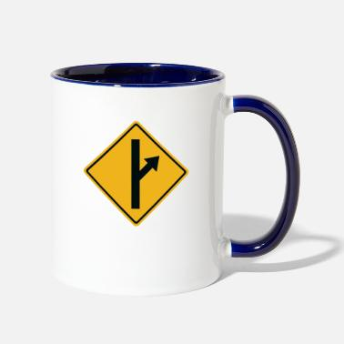 Road Sign MGTOW Road Sign - Two-Tone Mug