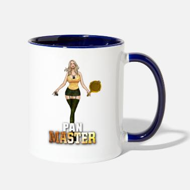 Pan Battleground Pan Master Mittelfinger - Two-Tone Mug