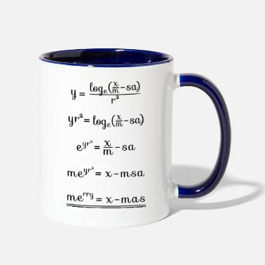Professor merry x mas math nerd shirt funny christmas gift - Contrast Coffee Mug