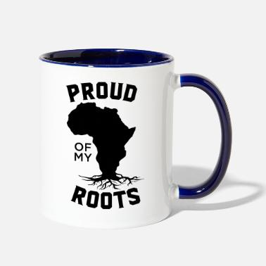 Power Proud Of My Roots - Two-Tone Mug