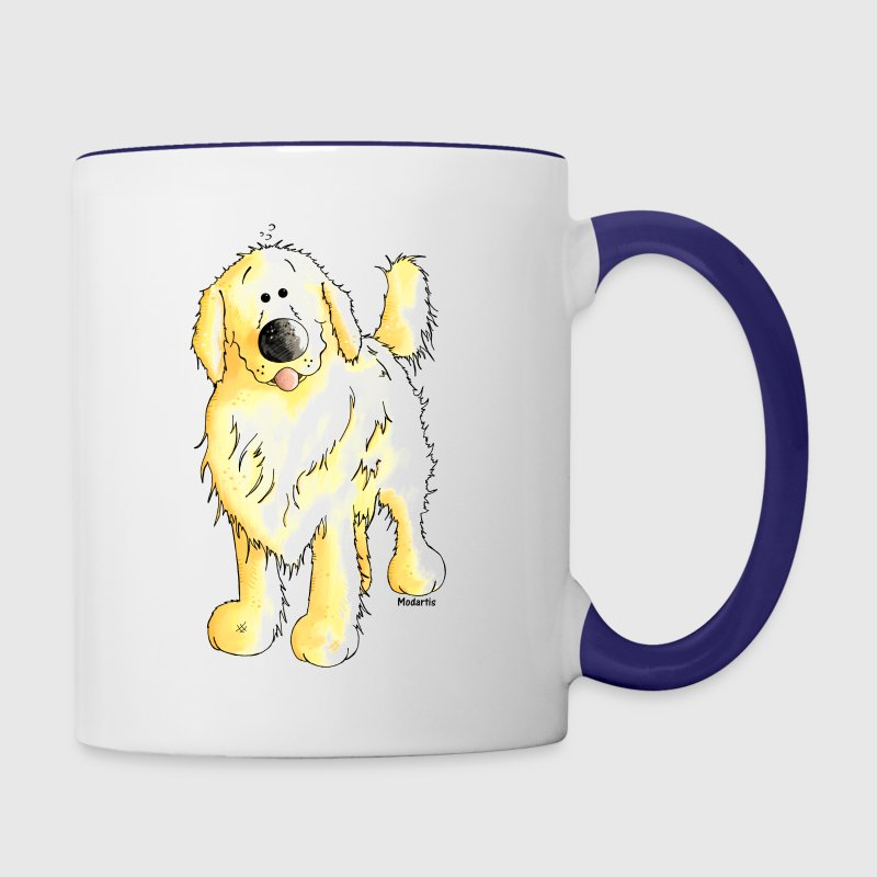 Funny Golden Retriever - Dog - Contrast Coffee Mug