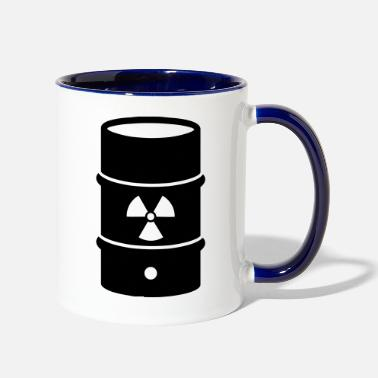 Nuclear Waste atomic waste biohazard nuclear energy - Two-Tone Mug