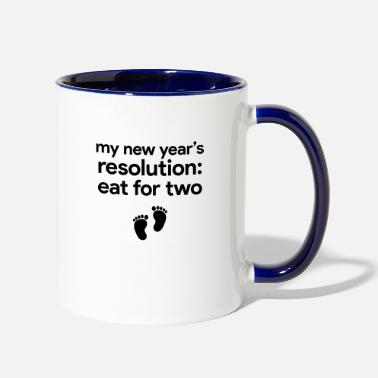 New Years Resolutions New Year Resolution - Two-Tone Mug