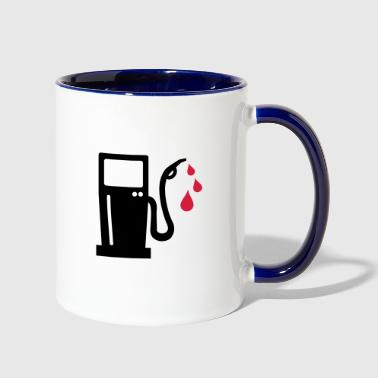 gas station - petrol pump - petrol - Contrast Coffee Mug