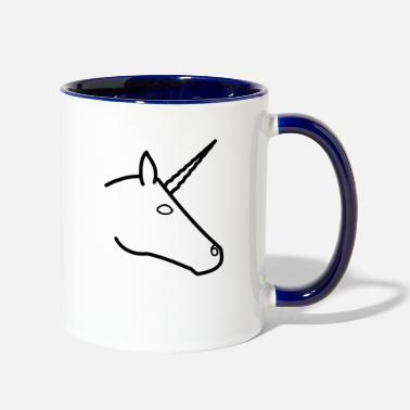Monogram UNICORN MONOGRAM - Two-Tone Mug