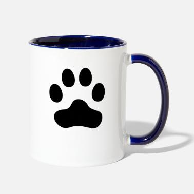 Paws Dogs Cat Paw dog paw - Two-Tone Mug