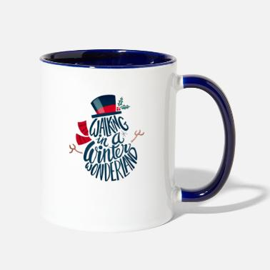 Christmas WONDERLAND VIBE - Two-Tone Mug