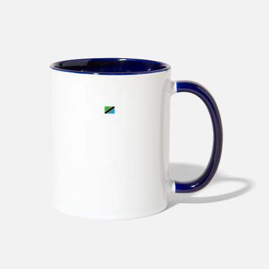 Tanzania Mugs & Drinkware - trust me i from proud gift TANZANIA - Two-Tone Mug white/cobalt blue