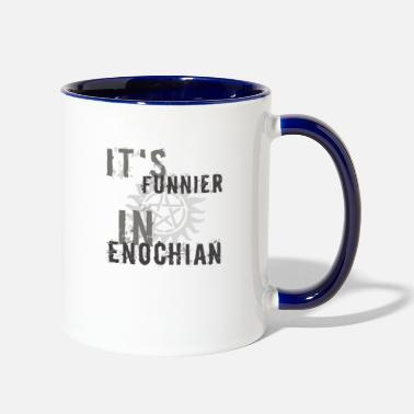 Funnier It's funnier in enochian - Two-Tone Mug