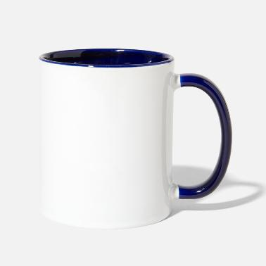 Pickup Line mustache or pickup line - Two-Tone Mug