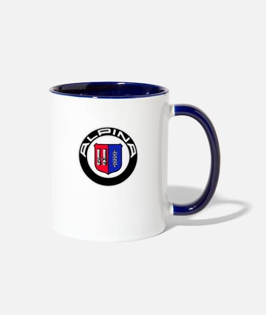 Ball Mugs & Cups - Alpina logo - Two-Tone Mug white/cobalt blue