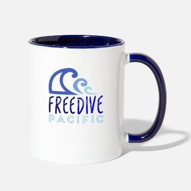 Freediving Freedive pacific - Contrast Coffee Mug