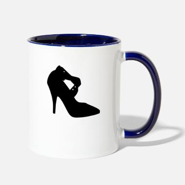 Highheeled Shoes Vector high heels shoes Silhouette - Two-Tone Mug