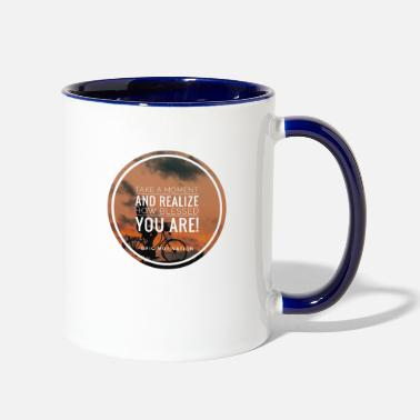 Bless You blessed you - Two-Tone Mug