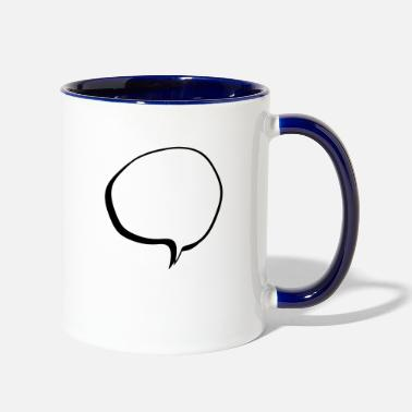 Speech Balloon speech balloon - Two-Tone Mug