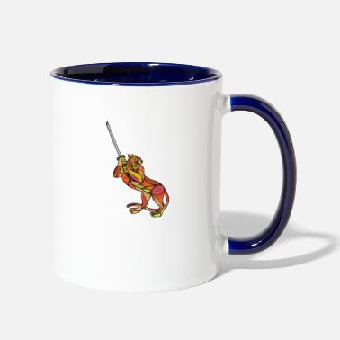 Sword Fight Tiger Sword Fighting - Two-Tone Mug