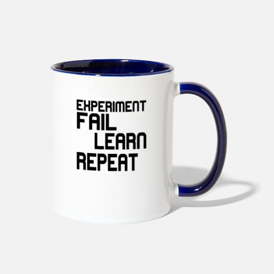 Learn Mugs & Drinkware - fail learn - Two-Tone Mug white/cobalt blue