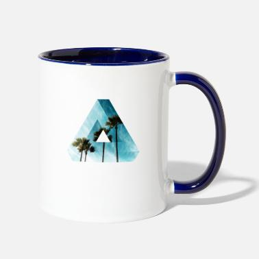 Optical Illusion Summer T-Shirt Design - Contrast Coffee Mug