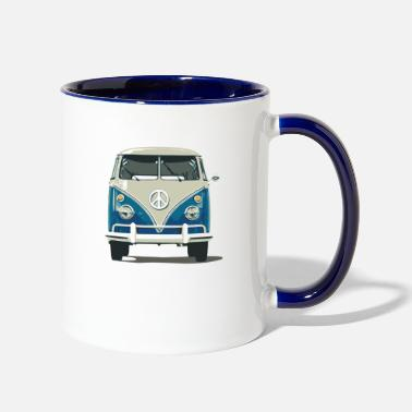 Hippie Bus Hippie Bus - Two-Tone Mug