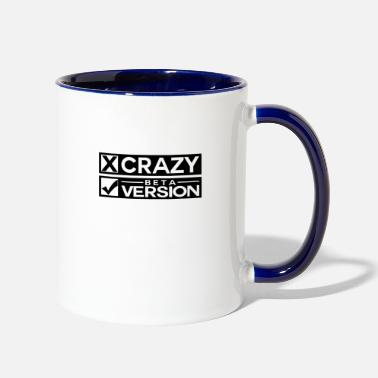 Quirk Crazy Beta Version Funny Shield - Two-Tone Mug