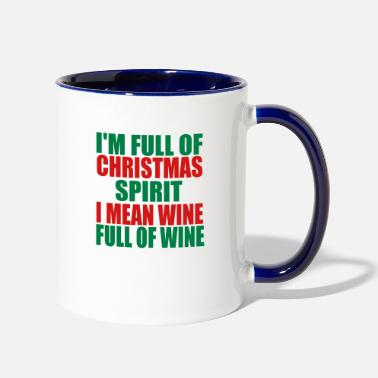 Christmas Christmas wine - Contrast Coffee Mug