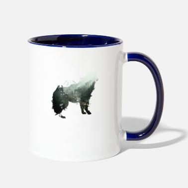 Destroyed Look The Wolf is the Forest - Two-Tone Mug