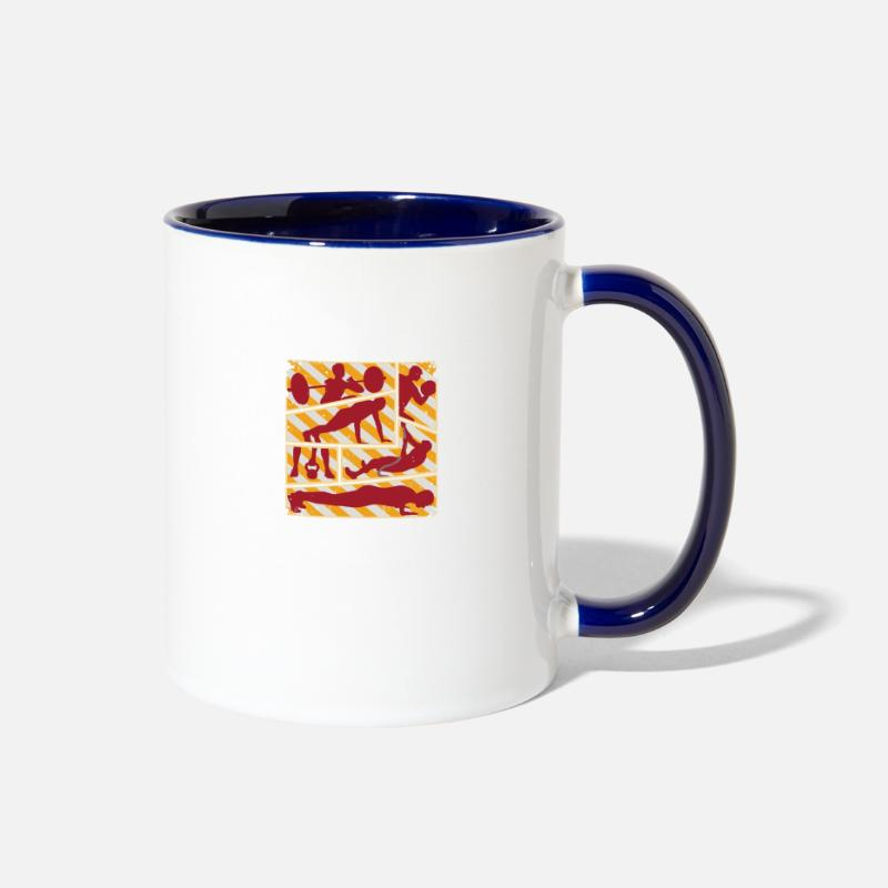 The Sporty Companion With Its Own Weight Contrast Coffee Mug White Cobalt Blue