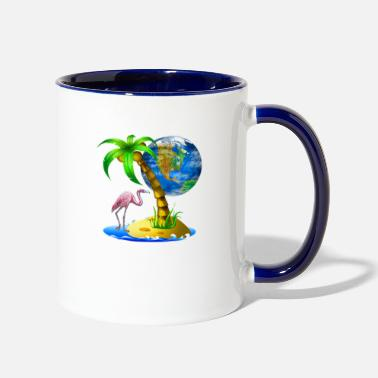 Coconutpalm Tropical Scene - Two-Tone Mug
