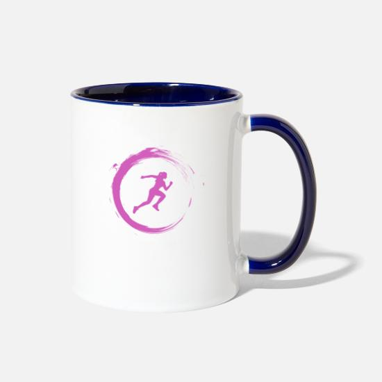 Sprinting Mugs & Drinkware - Athlete - Two-Tone Mug white/cobalt blue