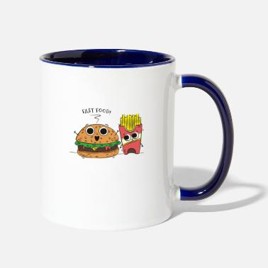 Food Fast food cartoon - Two-Tone Mug
