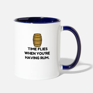 Rum Time Flies Rum - Two-Tone Mug