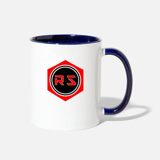 Stuff Mugs & Drinkware - Rick Stuff Mechanic - Two-Tone Mug white/cobalt blue