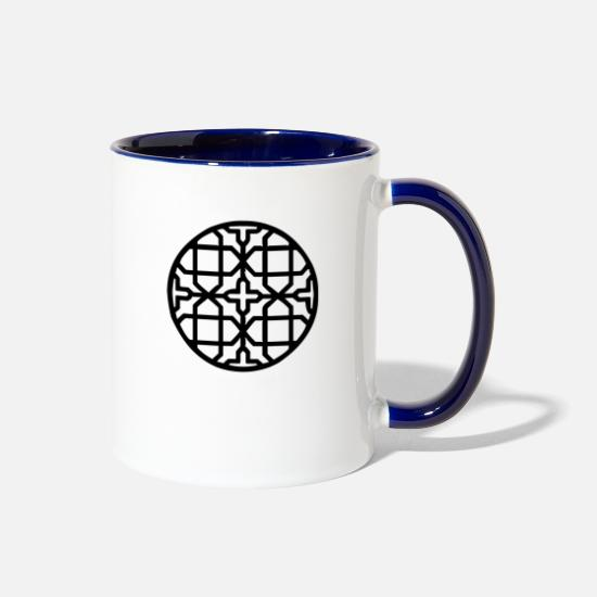 Line Mugs & Drinkware - Geometric Design - Two-Tone Mug white/cobalt blue