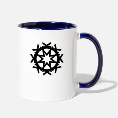 Shape Geometric Design - Two-Tone Mug