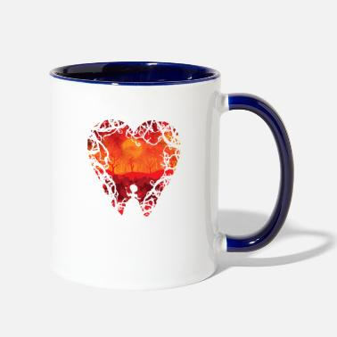 Blood Red Blood red hearts - Two-Tone Mug