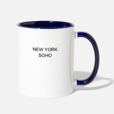 Soho NEW YORK SOHO MINIMAL WOMAN OUTFIT GIFT - Two-Tone Mug