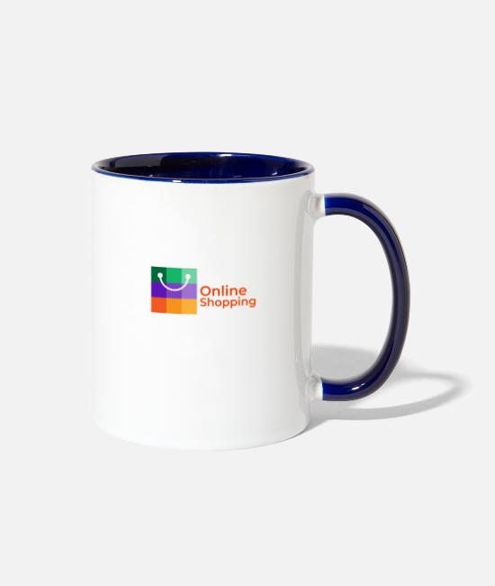 Jewel Mugs & Drinkware - Online Shopping Collection - Two-Tone Mug white/cobalt blue