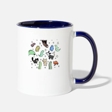 Nighttime Nighttime Pals Tiny Snek Comics - Two-Tone Mug