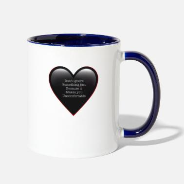 Against Against Racism - Two-Tone Mug