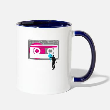 tape graffiti urban sprayer ba - Two-Tone Mug
