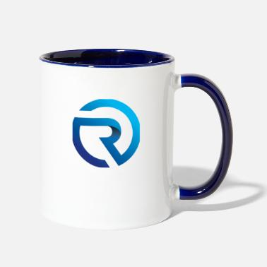 Logo R with logo - Two-Tone Mug