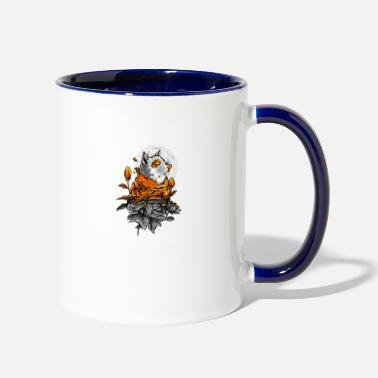 Travel cat - Two-Tone Mug