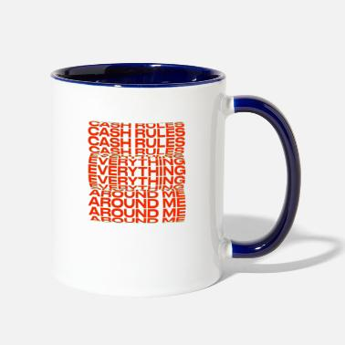 Stylish Cash rules everything around me Title Creativity - Two-Tone Mug
