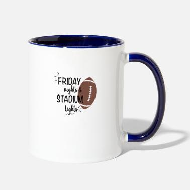Stadium Ban Friday Nights and Stadium Lights - Two-Tone Mug