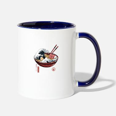 Attack On Titan Ramen The great wave of kanagawa Ramen Lover Anime - Two-Tone Mug