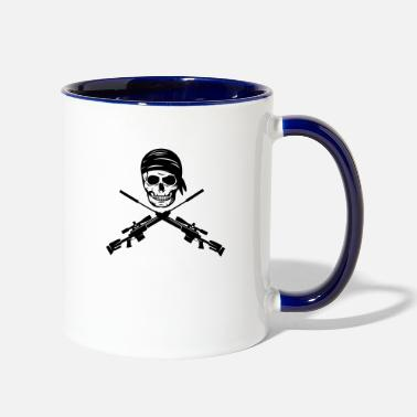 Bolt Action pirate - sniper magnum - Two-Tone Mug