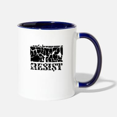 Demo Resistance Uprising Demo Occupy fight - Two-Tone Mug